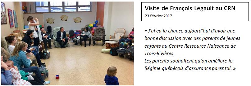 Visite de François Legault au CRN